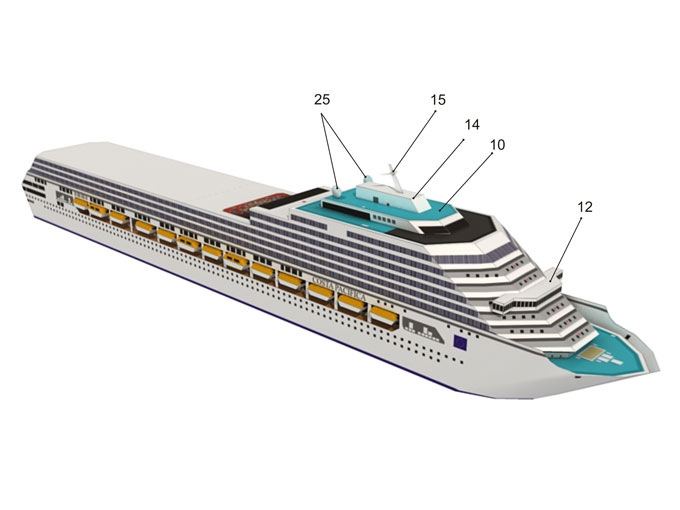 1:1200 Social Science Student Manual Class Gift Pacific Costa Cruise Ship Model Paper Model