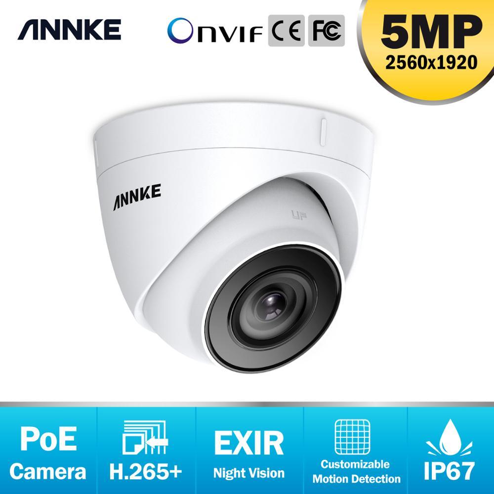 ANNKE 1PCS Ultra HD 5MP POE Camera Outdoor Indoor Weatherproof Security Network Bullet EXIR Night Vision Email Alert Camera Kit