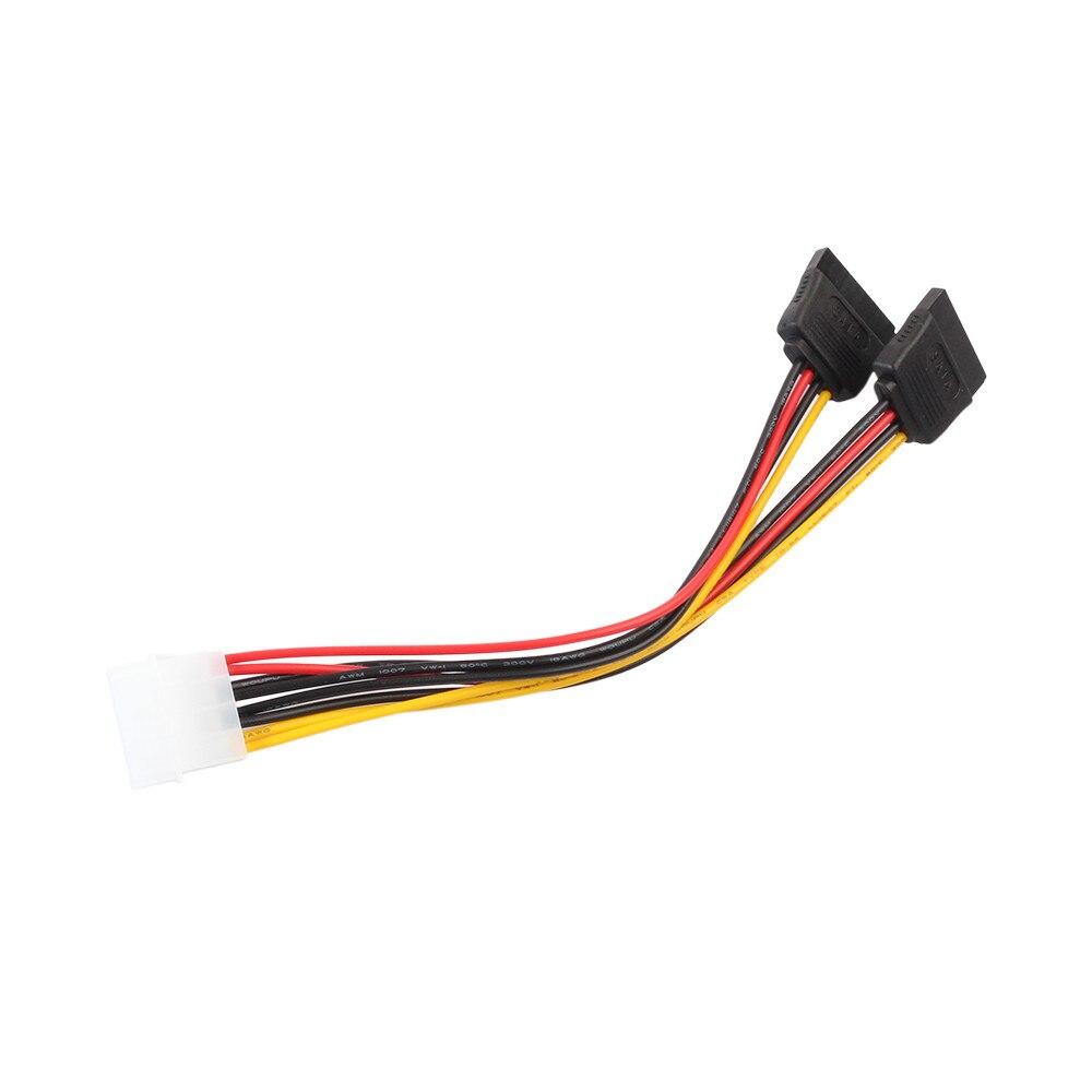 4Pin IDE Molex 2 ATA SATA güç kaynağı Y Splitter sabit disk uzatma kablosu sürücü uzatma kablosu Futural dijital # T2