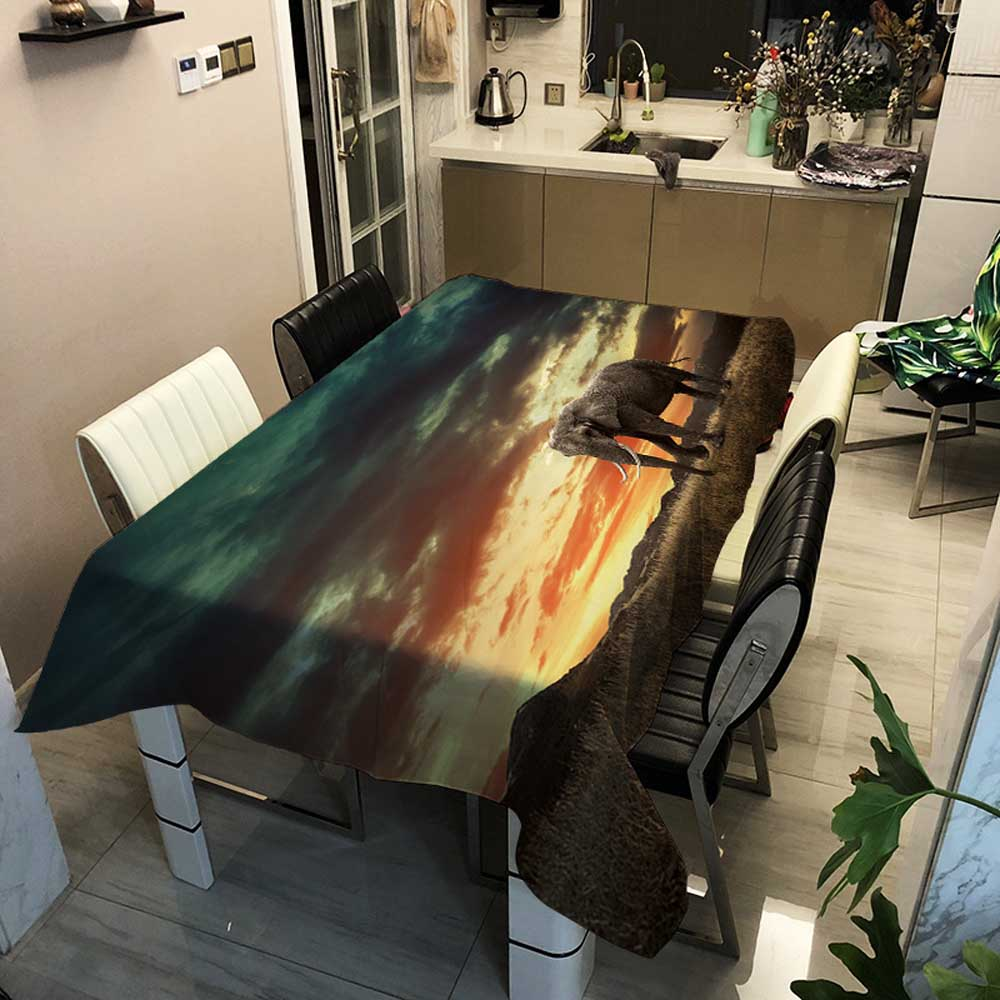 Desk Table Cloth Covers Rectangular Dinner Tablecloth Home Garden Kitchen Decor Oilproof Striped Elephant Household Table Cover