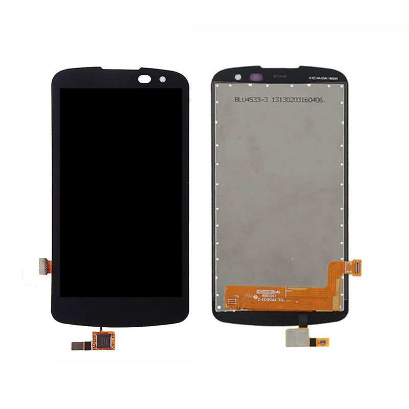 High Quality Replacement parts For <font><b>LG</b></font> K3 <font><b>K100</b></font> LCD Display Touch Screen Digitizer Full Assembly Black,No Frame image