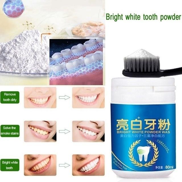 Poudre de blanchiment des dents naturelle magique perle hygiène des dents blanchiment des dents naturel élimination de la poudre tartre élimination des taches soins des dents