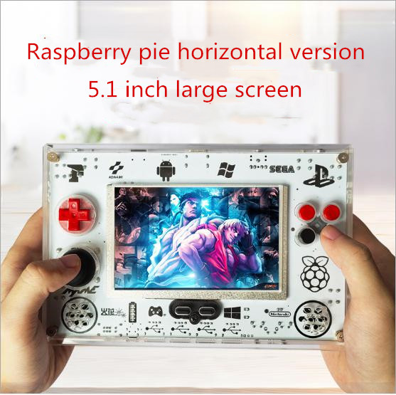 Coolbaby hot selling RS82 5.1 inch Raspberry pie open source retro game console arcade game with 8000mah four player US Plug image