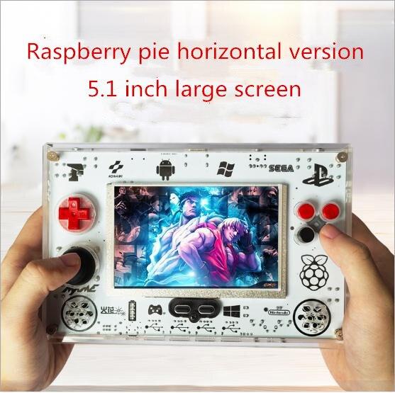 Coolbaby vente chaude RS82 5.1 pouces tarte aux framboises open source rétro console de jeu jeu d'arcade avec 8000mah quatre joueurs