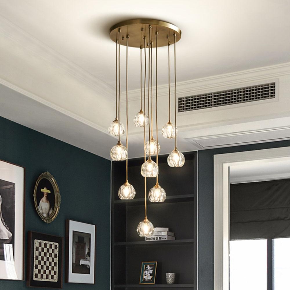 Modern Luxury Candelabro de Cristal de Iluminação LED de Luz Para Sala de Jantar Quarto Lâmpada Luzes Interiores Lâmpadas Luminária Hanging Quarto Casa