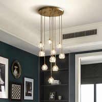 Candelabro de cristal de lujo moderno iluminación luz LED para sala de estar lámpara de comedor luces de interior accesorio colgante dormitorio lámparas de hogar