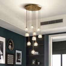 Fss מודרני יוקרה קריסטל נברשת תאורת LED אור עבור סלון חדר אוכל חדר שינה מקורה אור גופי תליית מנורה