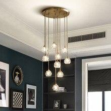 Fss nowoczesny luksusowy kryształowy żyrandol oświetlenie LED do salonu jadalnia sypialnia światło wewnętrzne lampy wiszące lampy