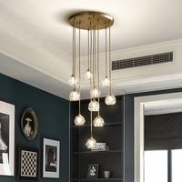 Modern Luxury Crystal Chandelier Lighting LED Light For Living Dining Room Lamp Indoor Lights Fixture Hanging Bedroom Home Lamps