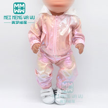 Bebek giysileri doll fit 43 cm yeni doğan bebek aksesuarları ceket pullu etek casual kıyafet çocuklar için noel hediyeleri