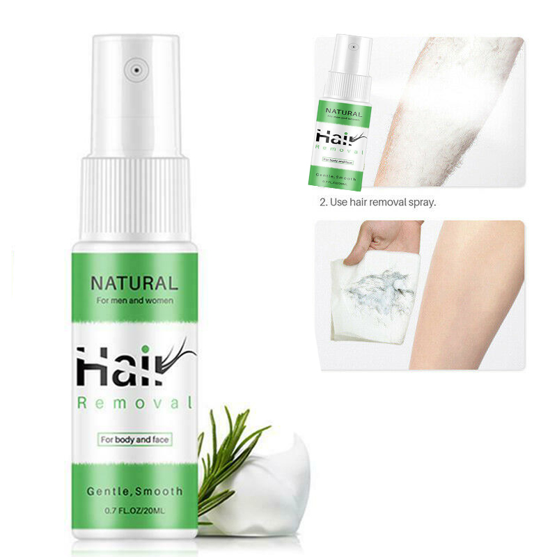 100% Natural Painless Permanent Hair Removal Spray And Hair Loss Inhibitor Flawless Epilator Powerful Body Care