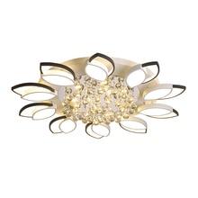 New Design Crystal Modern Led petal Ceiling chandelier For Living Room Bedroom lamp plafond avize Indoor led dimmable