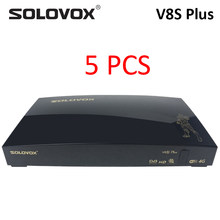 Solovox Openbox V8S Plus 5 Stuks Dvb S2 Satelliet Tv Ontvanger Ondersteuning Card Sharing Usb Wifi 4G Youtube Xtream decoder Powervu Doos(China)