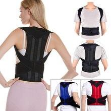 Postura traseira corrector clavícula suporte postura cinta parar slouching e curvar ajustável volta trainer unisex