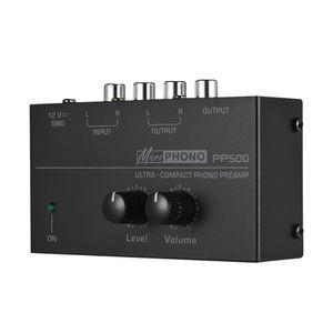 Image 2 - PP500 Phono Voorversterker Voorversterker Met Niveau Volumeregeling Voor Lp Vinyl Draaitafel
