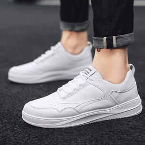 Image 3 - Casual Shoes Sneakers Men PU Leathable Autumn/Winter Fashion White Shoes Man Round Toe Classics High Quality Leisure Board Shoes