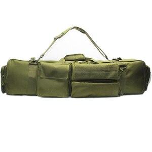 Image 2 - 100 cmarmy بندقية حقيبة الظهر مزدوجة بندقية حقيبة الحال بالنسبة منشار M249 M4A1 M16 AR15 Airsoft كاربين حقيبة حمل حقيبة الكتف حزام