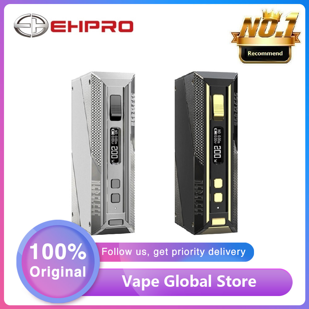 NEW Original Ehpro Cold Steel TC Box MOD Max 200W Output E-cigarette Vaping Mod Type-C USB Quick Charge Vape Mod With 510 Thread