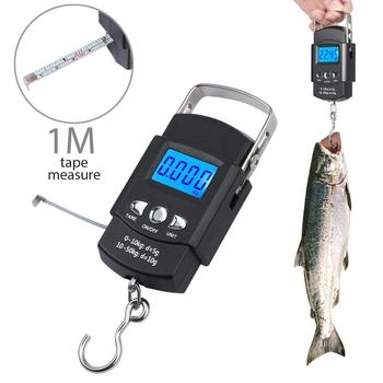 BOBI 50KG/10g Mini Electronic Portable Digital Scale LCD Display Suitcase Travel Handheld Weighing Hanging Scale Fishing Balance