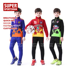 Children Sports Sweatshirt Coat Goalkeeper Jerseys Kids Boys Running Jogging Suits Tracksuit Training Soccer Uniforms Sportswear(China)