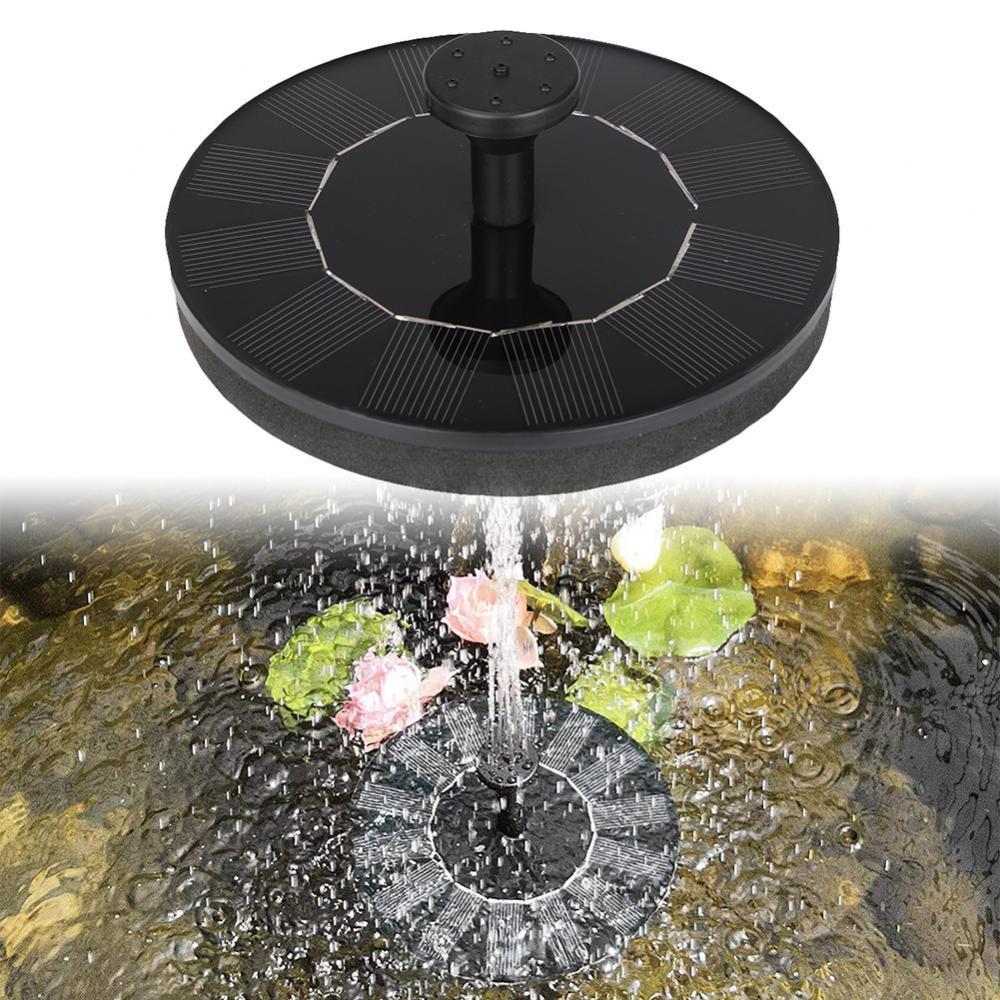 80% горячая Распродажа солнечной энергии плавающий аквариум сад птица ванная Фонтан Водяной насос на солнечных батареях фонтан
