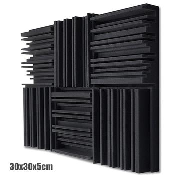 6 12 24 szt Studyjna pianka akustyczna panele dźwiękochłonna gąbka bęben KTV absorpcja pokoju poliuretanowa ściana dźwiękowa piankowa podkładka tanie i dobre opinie NONE CN (pochodzenie) USD rolka Nowoczesne Acoustic Foam SALON do pokoju z pościelą do nauki Geometryczny Wzór przyjazne dla środowiska