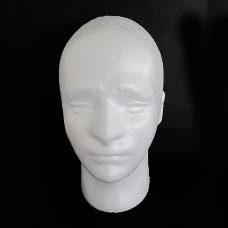 54cm Circumference Men PVC Skyltdocka Manikin Head Model för Cap Wig Hat Display Perfekt för butiksdisplay Drop frakt