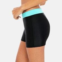 Attraco Women's Boardshort Swimming Shorts Solid Color Bikini Bottom Ban Swimwear Briefs Split Tankini Swimwear Trunks volcom men s lido solid boardshort