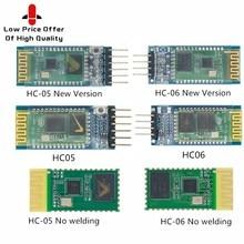 1 pces hc05 HC-05 hc06 HC-06 JY-MCU anti-reverso, módulo de passagem serial integrado de bluetooth, HC-05 mestre-escravo 6pin/4pin