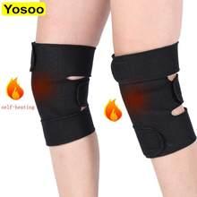 1 para turmalin samo ogrzewanie ochraniacze na kolana terapia magnetyczna Kneepad ulga w bólu zapalenie stawów Brace wsparcie rzepki nakolanniki klocki