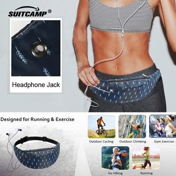 Running Gym Bag Outdoor Sport Bag Backpack Fitness Accessories Swimwear Women Waterproof Phone Jogging Belt Belly Bag