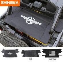 Shineka interior molduras para jeep wrangler jl 2018 + portador de bagagem do carro tronco cortina capa para wrangler 2019 acessórios do carro