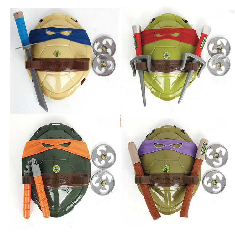Anime Movie Cartoon Ninja Toys Action Figure Turtles Armor Weapons Leo Raph Mikey DonFigure Cosplay Shell Props For Kids Gift