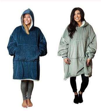 Winter Warm Hooded Blanket