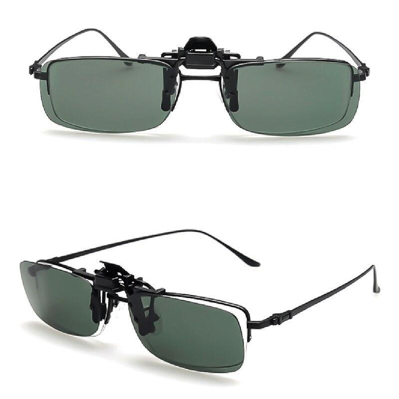 Voiture moto clipsable polarisé jour nuit Vision rabattable lentille lunettes de conduite Anti-éblouissement UV lunettes de soleil lunettes accessoires
