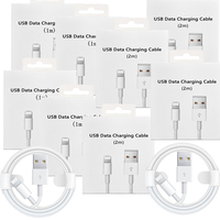 10 PCS 20 PCS 1m 2m USB Ladegerät Datenkabel mit einzelhandel box Für Apple Iphone 12 Pro X Xs Max Xr 5 5S Se 6 6S Plus ipad Mini Air 2