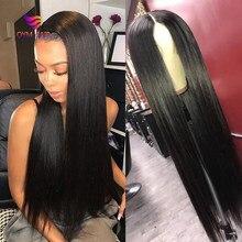 Oym peruca cabelo brasileiro, 4x4 de renda, cabelo novo, pré selecionado, com cabelo novo, 150% densidade remy perucas de fechamento reto
