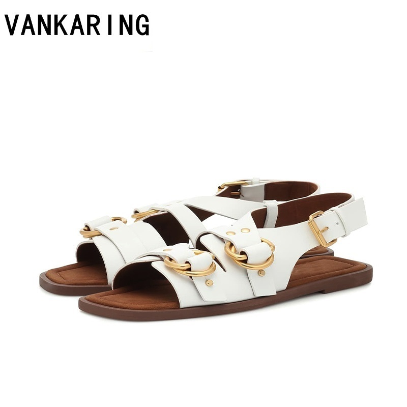 Big size summer casual women shoes sexy open toe buckle low thick heels dress shoes slingback ladies beach sandals women shoes