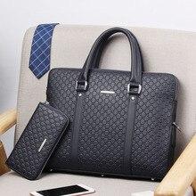 2021New Double Layers Men's Leather Business Briefcase Casual Man Shoulder Bag Messenger Bag Male Laptops Handbags Men Travel Ba
