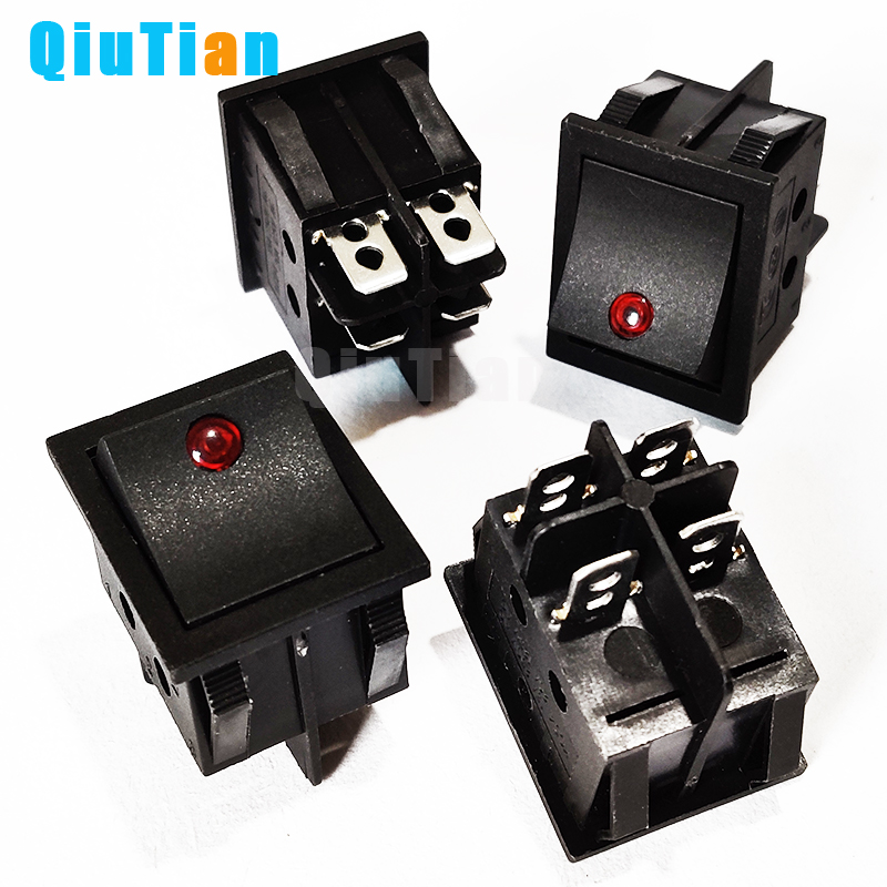 KCD4 Rocker Switch Power Switch ON-OFF 2 Position 4P Electrical equipment With Light Switch 16A 250VAC/ 20A 125VAC boat switch