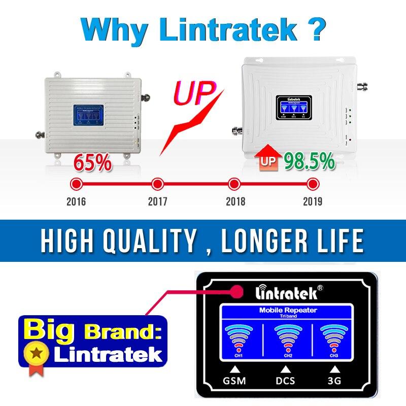 Spécialement pour la France Amplificateur de Signal Lintratek 900 ~ 2100 1800 2G 3G 4G GSM répéteur de Signal GSM 900 WCDMA 2100 DCS 1800 B3 amplificateur de téléphone portable d'appoint - 5