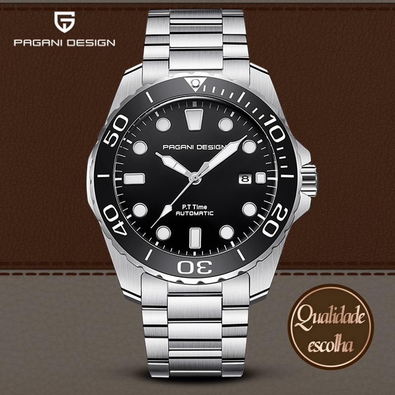 Mechanical Men's Watches PAGANI DESIGN Luxury Fashion Watches Men Waterproof Steel Wristwatch Male Automatic Clock Reloj Hombres