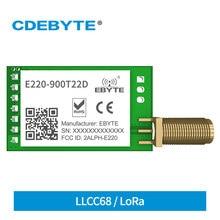 Lora 868mhz 915mhz llcc68 módulo sem fio 22dbm de longa distância 5km cdebyte E220-900T22D SMA-K uart rssi transmissor receptor dip