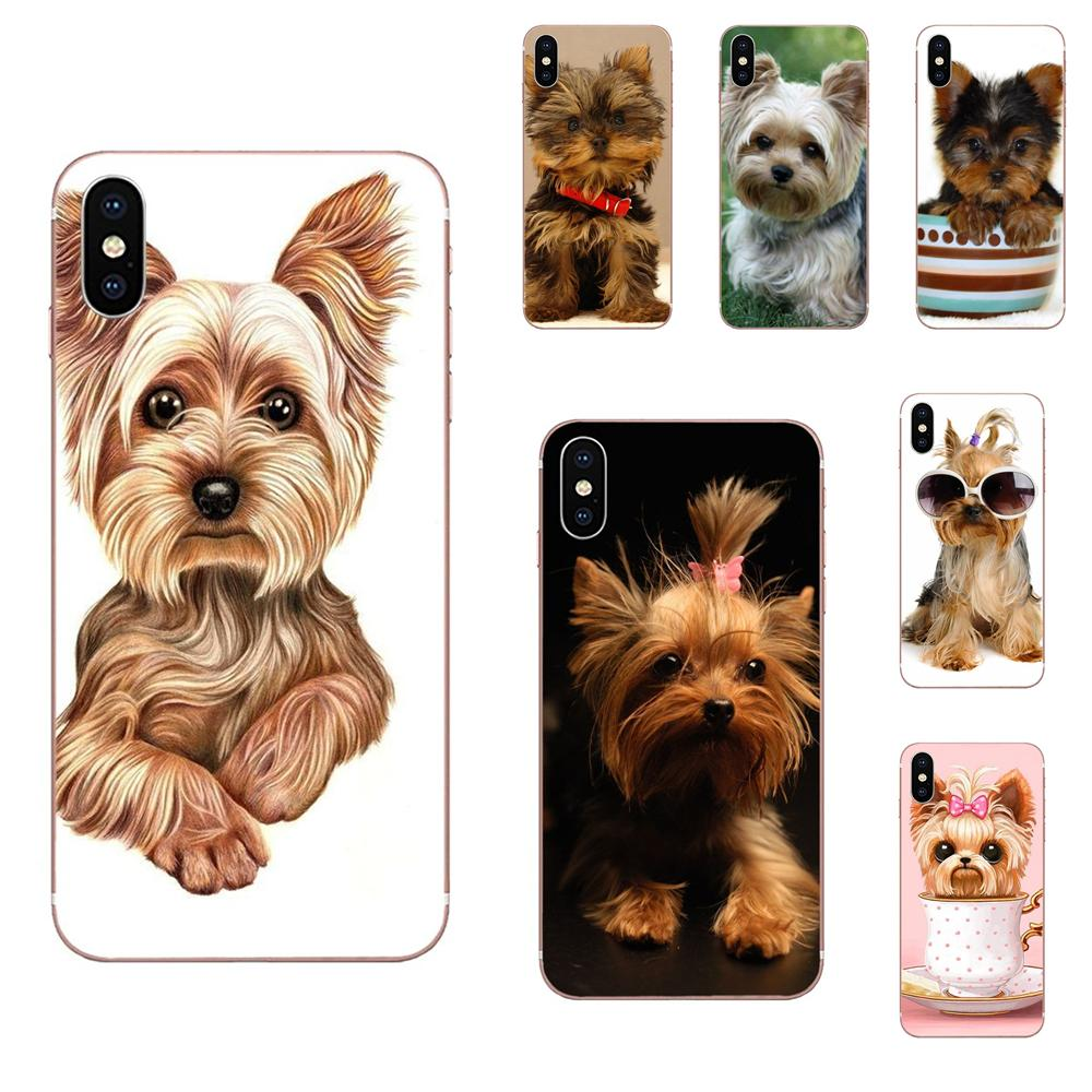 Yorkshire Terrier <font><b>Dog</b></font> Puppy Ultra Thin Cartoon For Galaxy J1 J2 J3 J330 J4 J5 J6 <font><b>J7</b></font> J730 J8 2015 2016 2017 2018 mini Pro image