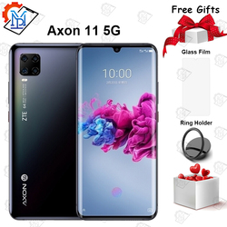 Новинка 2020, Смартфон ZTE Axon, 11 5G, 6,47 дюйма, изогнутый экран AMOLED, 6 ГБ + 128 Гб, Snapdragon 76, восемь ядер, Android 10, NFC
