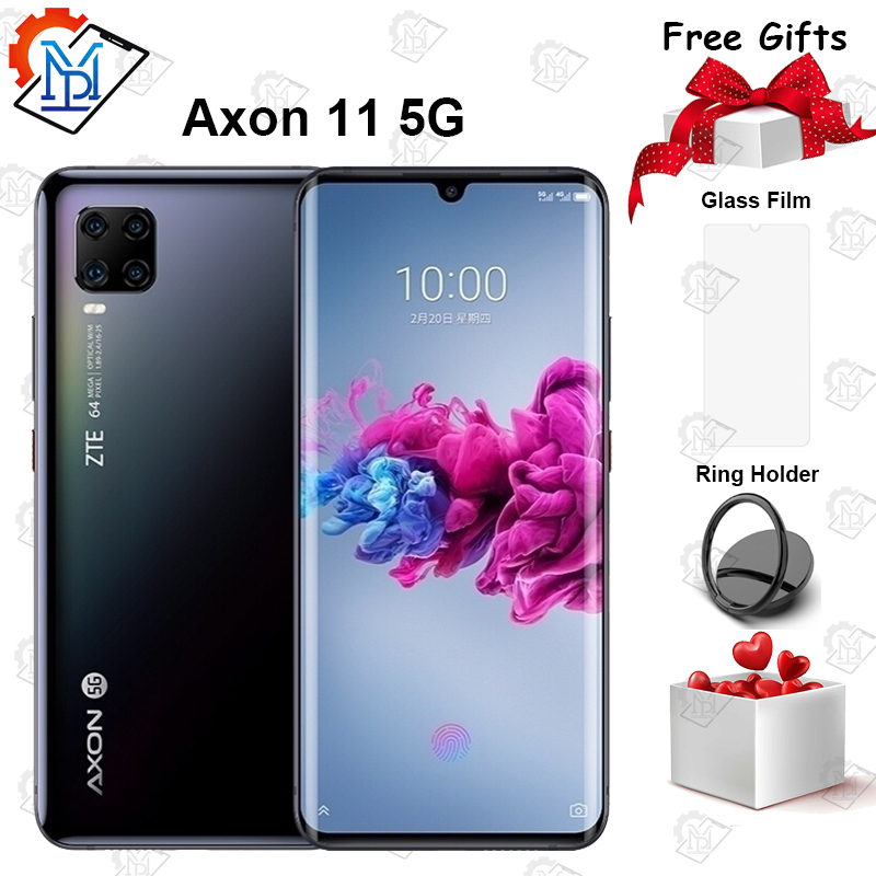 New ZTE Axon 11 5G Mobile Phone 6.47 <font><b>inch</b></font> AMOLED Curved Screen 6GB+128GB Snapdragon 765G Octa Core Android 10 NFC <font><b>Smartphone</b></font> image