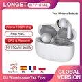 Беспроводные наушники LONGET, TWS, ANC, активное шумоподавление, стерео, сенсорные Bluetooth наушники, наушники для iPhone 12