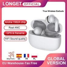 Longet mais novo tws anc cancelamento de ruído ativo sem fio fones ouvido estéreo toque bluetooth fone para iphone 12