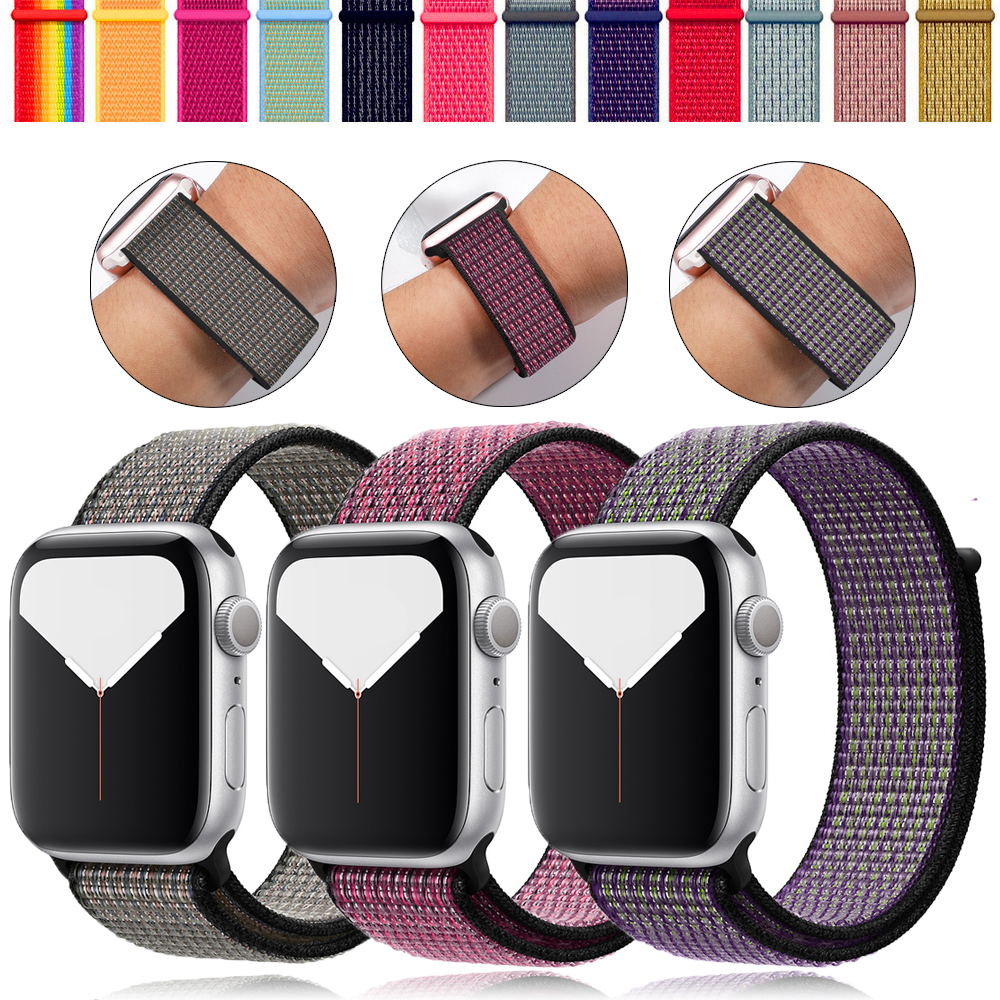 Strap For Apple Watch Band 42mm Apple Watch 4 Band 44 Mm Correa Iwatch Band 40mm 38 Mm Sport Loop Nylon Bracelet Watchband 44mm
