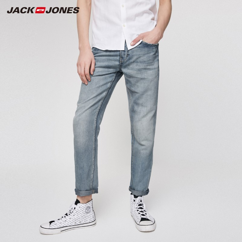 JackJones Men's Comfortable Washed Crop Jeans Menswear| Basic Jeans 219232516